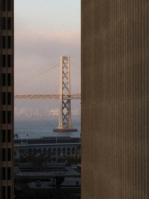 San Francisco Bay Bridge Framed Downtown