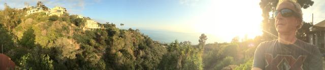 Laguna Beach Hillside Cottage Sunset Panorama Kicking it post surf