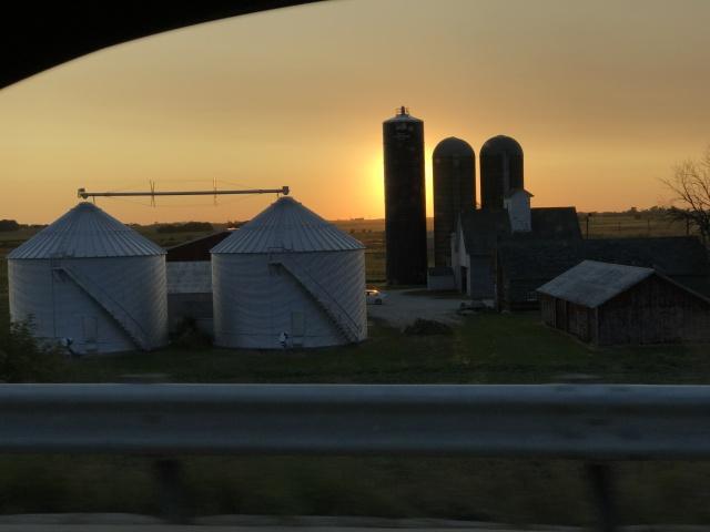 Illinois Sunset Silos